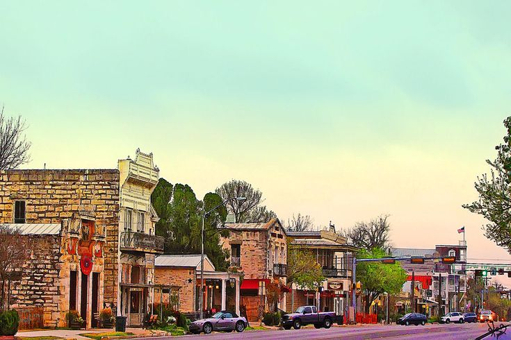 Fredericksburg, Tx- main street- its a cute little german town thats a great weekend getaway! and Enchanted Rock is just a few minutes away.