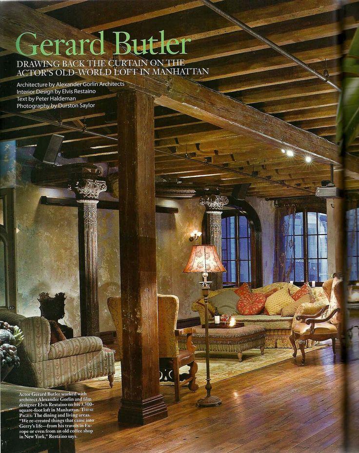 The New York Loft of Gerard Butler [] Gerard Butler's Nyc Loft