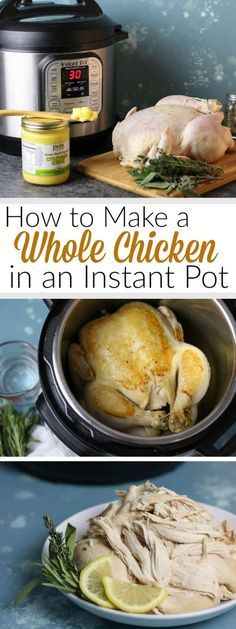 How to make a Whole Chicken in an Instant Pot | Make Meal Prep a breeze with this Instant Pot Whole Chicken recipe! | Whole30 | therealfoodrds.com