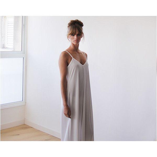 White Maxi slip dress, Straps Dress , White maxi dress - All My DIBS - 1