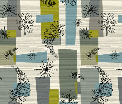 50s Floral /01 fabric by elizabeth_hale_design on Spoonflower - custom fabric