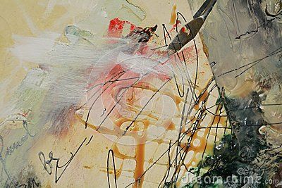 Decorative oil painting background with strong strokes on the canvas and a palette knife.