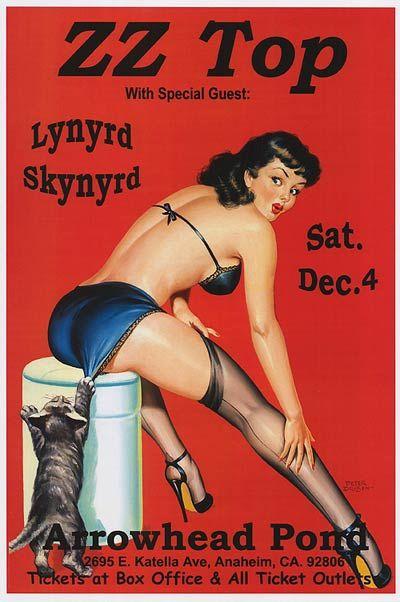 I absolutley love this vintage poster...  Z Z Top & Lynyrd Skynyrd............  arrowhead pond 1999