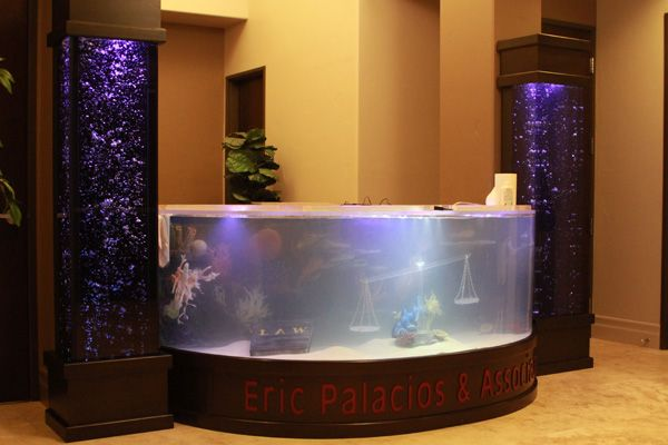 Shark lawyer office tanked unique aquariums pinterest for Office fish tank