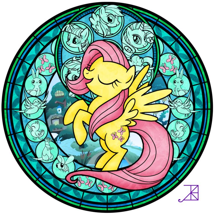 Stained Glass: Fluttershy