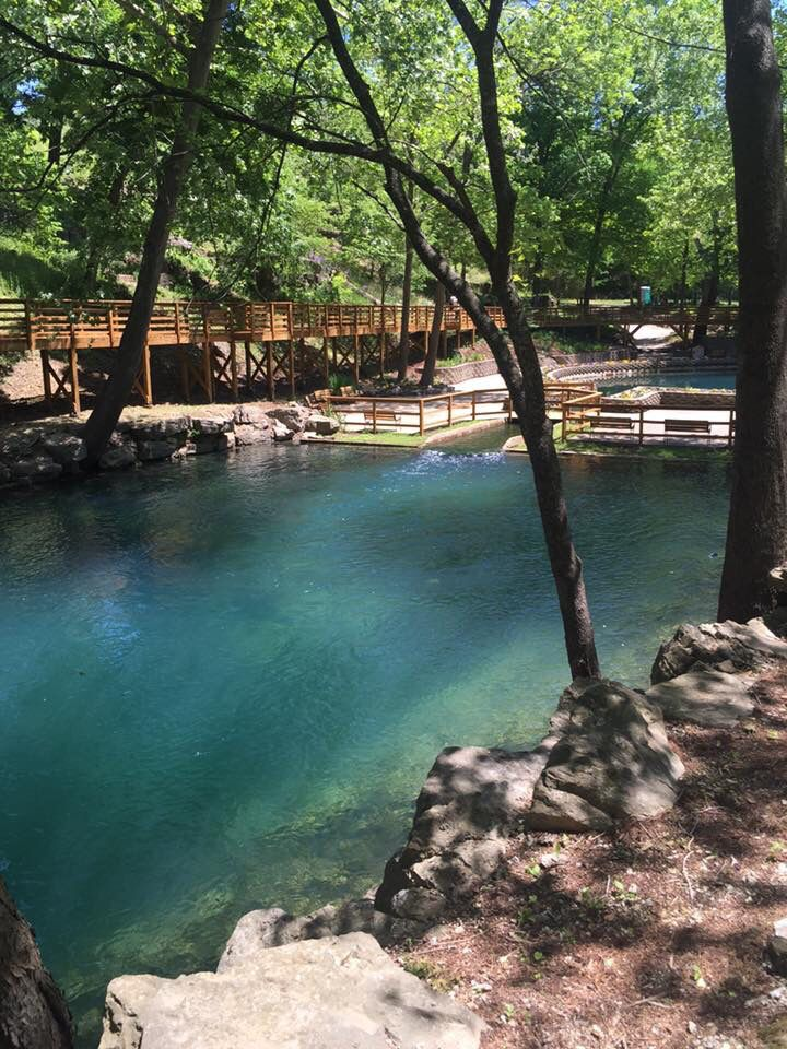 Blue Springs in Eureka Springs, Arkansas