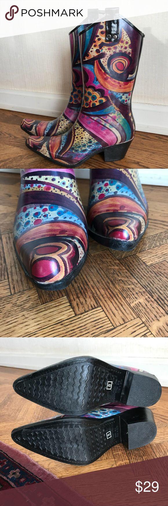 Nomad rain boot Monet pattern western rubber rain boot. Nomad Footwear Shoes Winter & Rain Boots