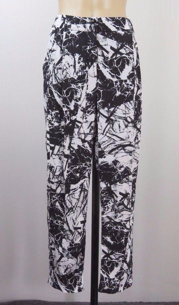 Size M 12 Portmans Black Pants Casual Boho Chic Loose Fit Office Cocktail Style   | eBay