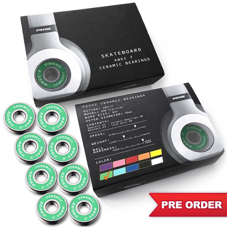 Pro Ceramic Skateboard Bearings 2.0 For Sale High Speed No Rust ABEC-7 Green - PRE ORDER