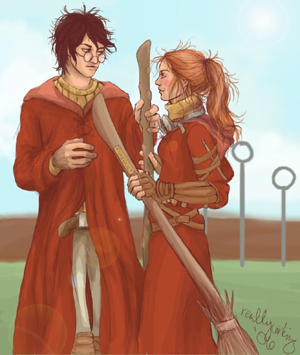 Harry And Ginny On Quidditch Team Love This In 2019 -2233