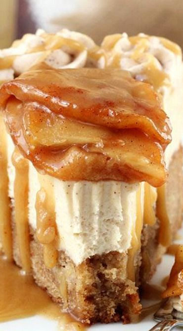 Caramel Apple Blondie Cheesecake: WOW, this looks like a slice of heaven!