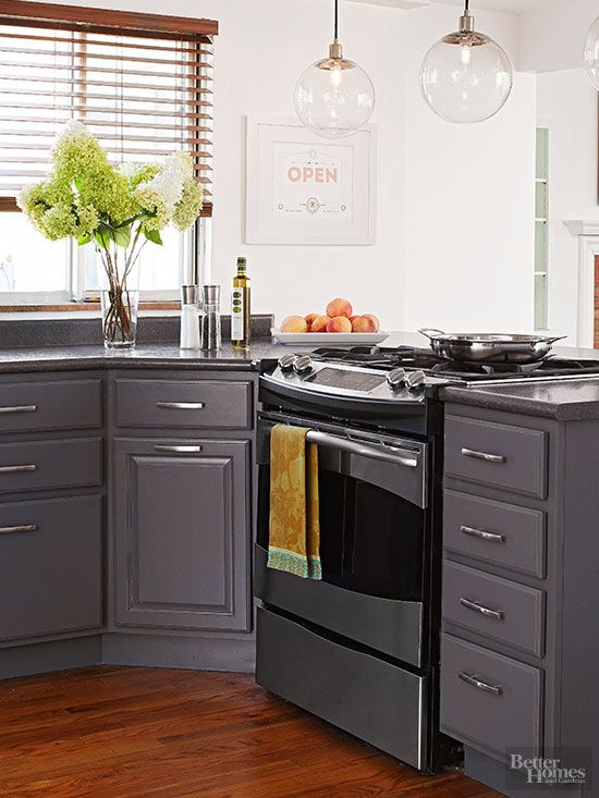 For Elevated Style, Balance Deep Slate Cabinets With Crisp White Walls And  Sleek Silver Finishes Part 47