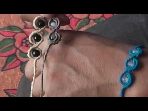 ( 6 ) ( English ) Tutorial ( Shape S Bracelet with Accessories ) / Las3Raices - YouTube