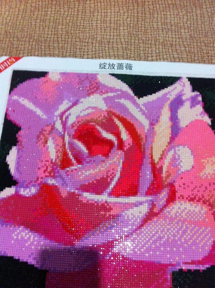 Интернет-магазин Рукоделие Diy Алмаз живопись розовая роза 40*40 см ручной работы с бриллиантами вышивка полный квадрат горный хрусталь мозаика декоративные ремесла | Aliexpress для мобильных