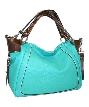 Turquoise French Satchel by Punto Uno-also available in Cobalt Blue, black, red, taupe, orange, white, and green