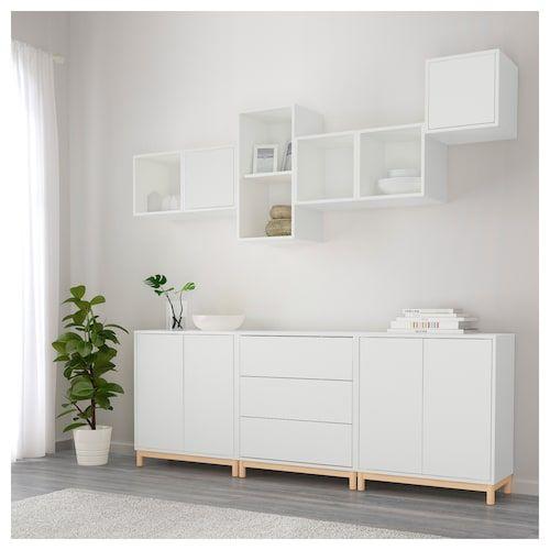 Eket Combinaison Rangement Avec Pieds Blanc Ikea Amenagement Salle A Manger Buffet Salle A Manger Salle A Manger Ikea