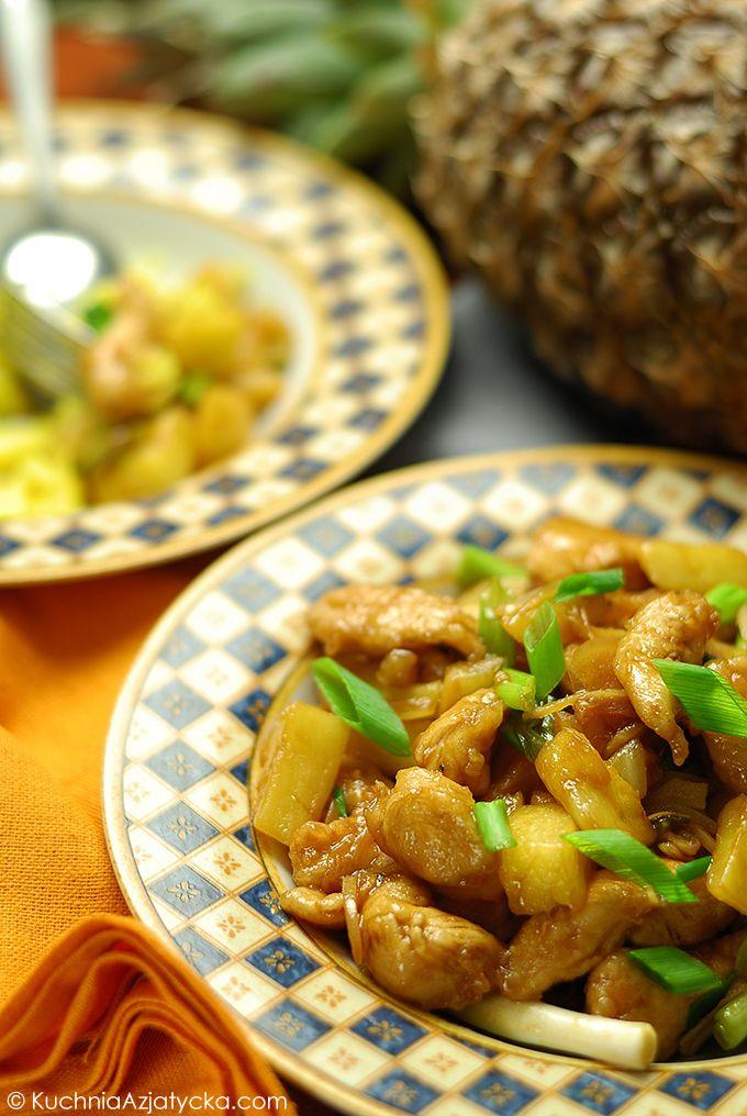 Smazony Kurczak Z Ananasem Kuchnia Azjatycka