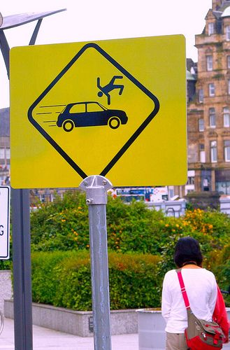Funny signs - I'll pass on walking down this street I think...--Iove this--wonder how many fell off before it went up?