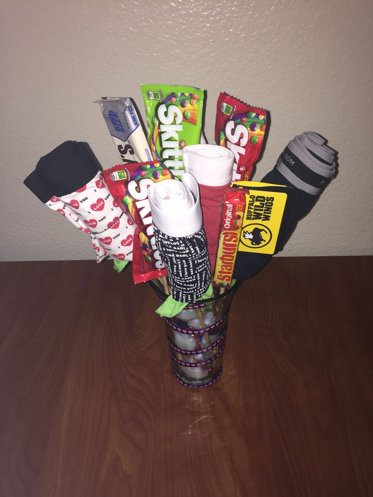 Boxer Bouquet for him . great gift for a guys Valentine's Day gift !