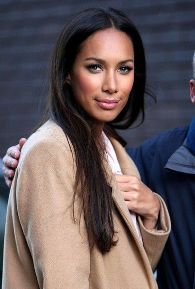 Leona Lewis wore sheer lipbalm to keep her lips soft and supple.