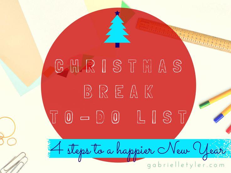 Christmas Break to-do list