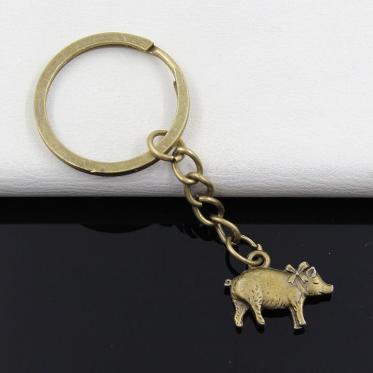 99Cents Keychain 21*16mm 3D pig Pendants DIY Men Jewelry Car Key Chain Ring Holder Souvenir For Gift //Price: $1.95 & FREE Shipping //     #hashtag4