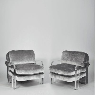 Vladimir  Kagan - Pair of Lucite Lounge Chairs, Vladimir Kagan, USA, c. 1970′s offered by Todd Merrill Studio on InCollect