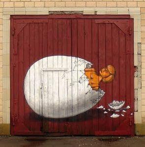 Interesni Kazki, Velikonoce, Ukrajina - unurth   pouliční umění