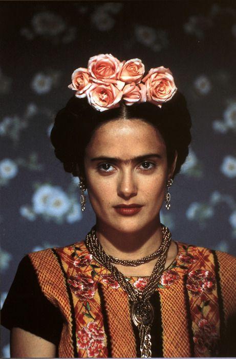 Salma Hayek as Frida Kahlo. She looks beautiful in this one.