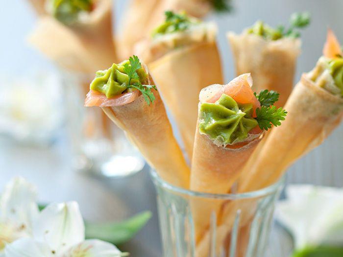 Découvrez la recette Cornets apéritifs au guacamole sur cuisineactuelle.fr.