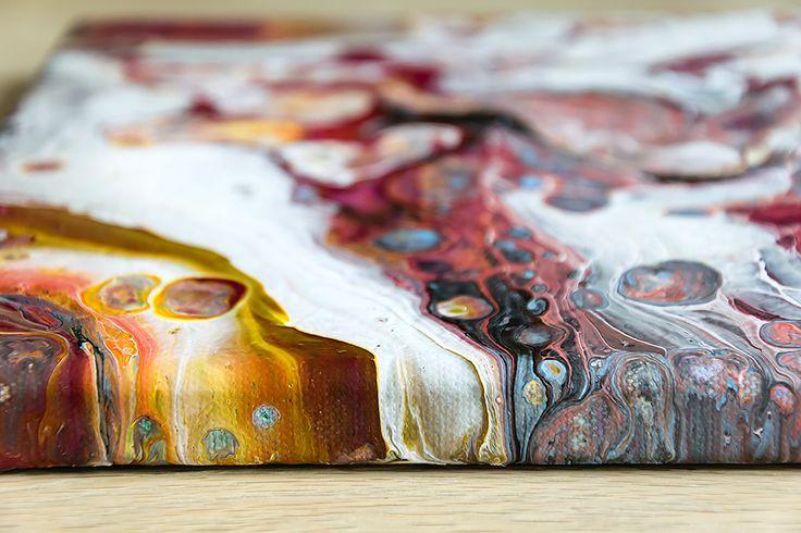 Allure II - abstract painting - acrylic on canvas - 30x30 cm - read more on: https://artbylonfeldt.dk/webshop/allure-ii/
