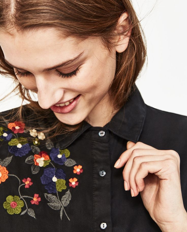 FLORAL EMBROIDERY SHIRT-NEW IN-WOMAN-COLLECTION SS/17 | ZARA Canada