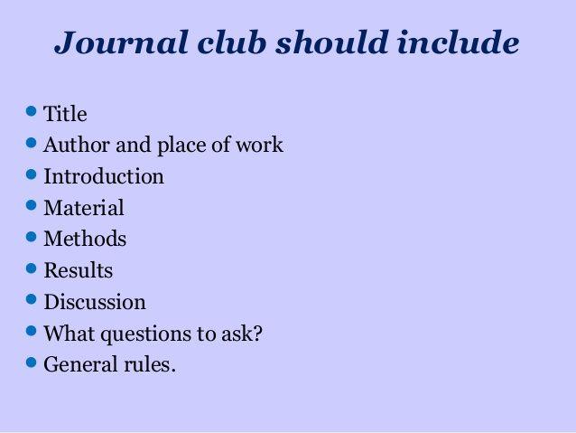How To Present A Journal Club Modern Powerpoint Journal