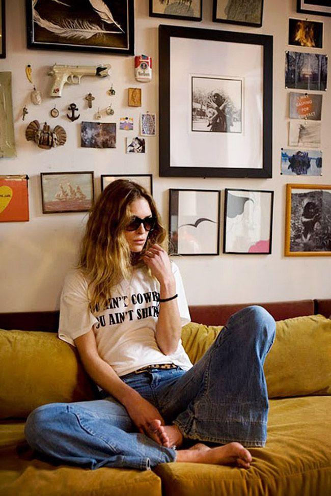 Erin Wasson (girl crush) + wall art