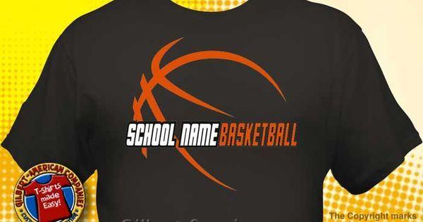 29 best school spirit jeans flip flops etc images on for Basketball t shirt designs high school