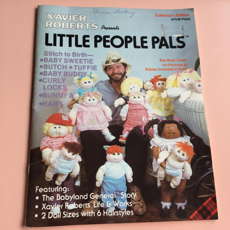 1982 Xavier Roberts presents Little People Pals Collector's Edition pattern book doll making, 2 doll sizes 6 hair styles, Cabbage Patch Kids by MuppetLoveVintage on Etsy