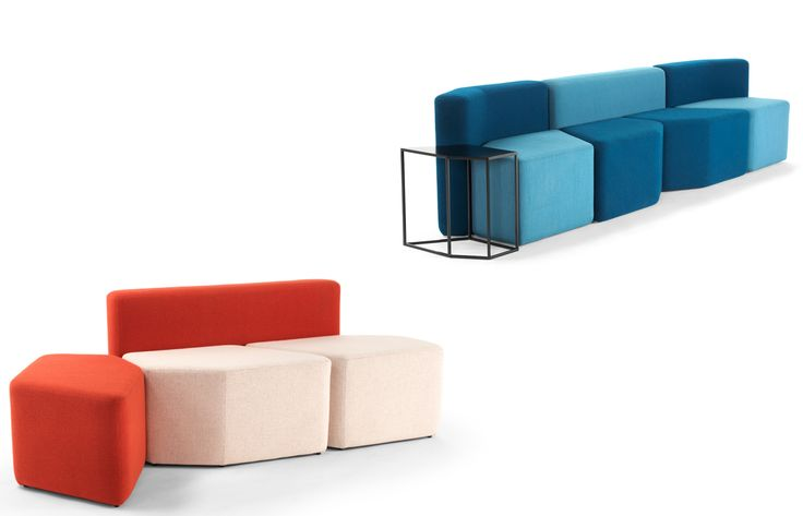 Potomac poufs Horreds Potomac Poufs, een loungemeubilair van PLAN@OFFICE ontworpen door Horreds