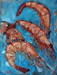 RICK NILSON: shrimp painting