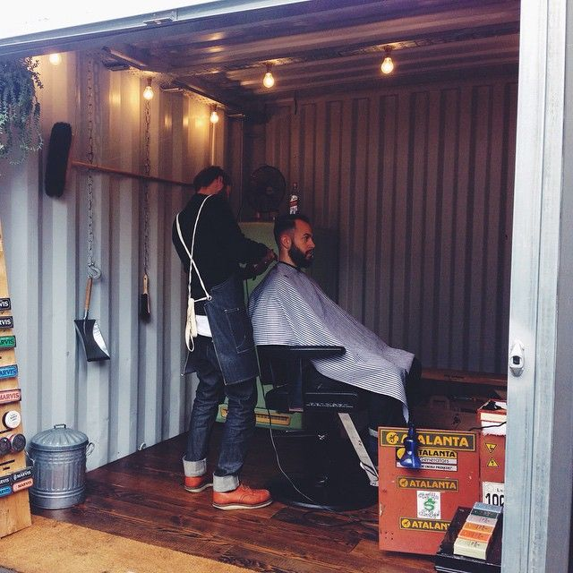 Shipping container barber shop #barbershop #barber #hackney #eastlondon #container #vintage #lovelondon