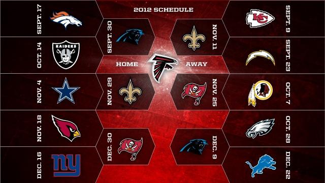 Atlanta Falcons 2012 Schedule