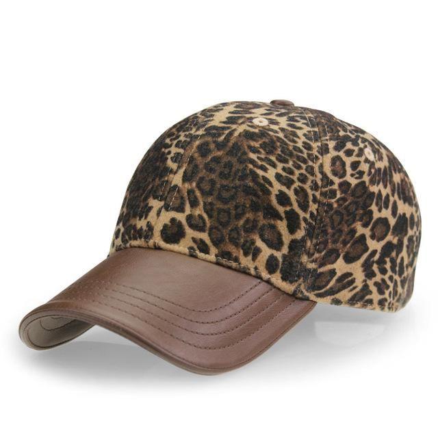 Baseball Cap Leopard Print. For Women