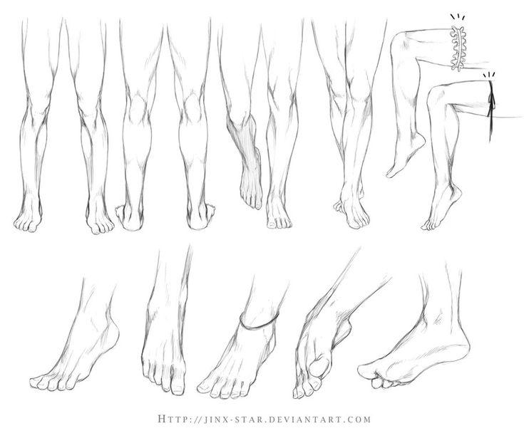Drawing tutorials - Feet - Imgur via PinCG.com