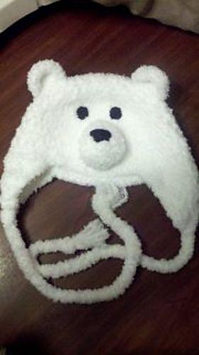 Adorable Fuzzy Polar Bear Hat : Free Crochet Pattern
