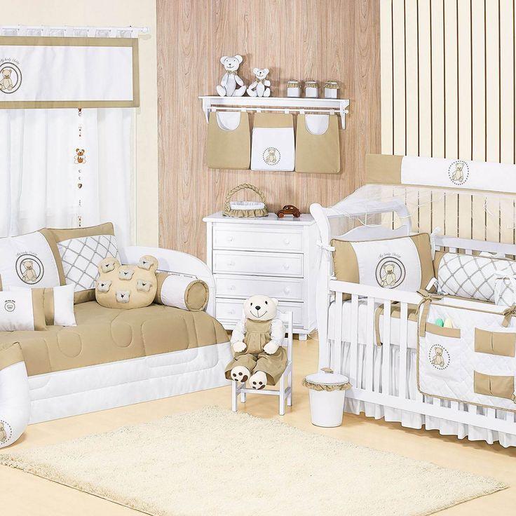 Quarto de Bebê Teddy Cáqui