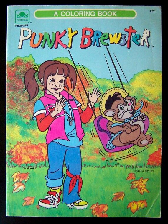 punky brewster coloring book - Punky Brewster Halloween