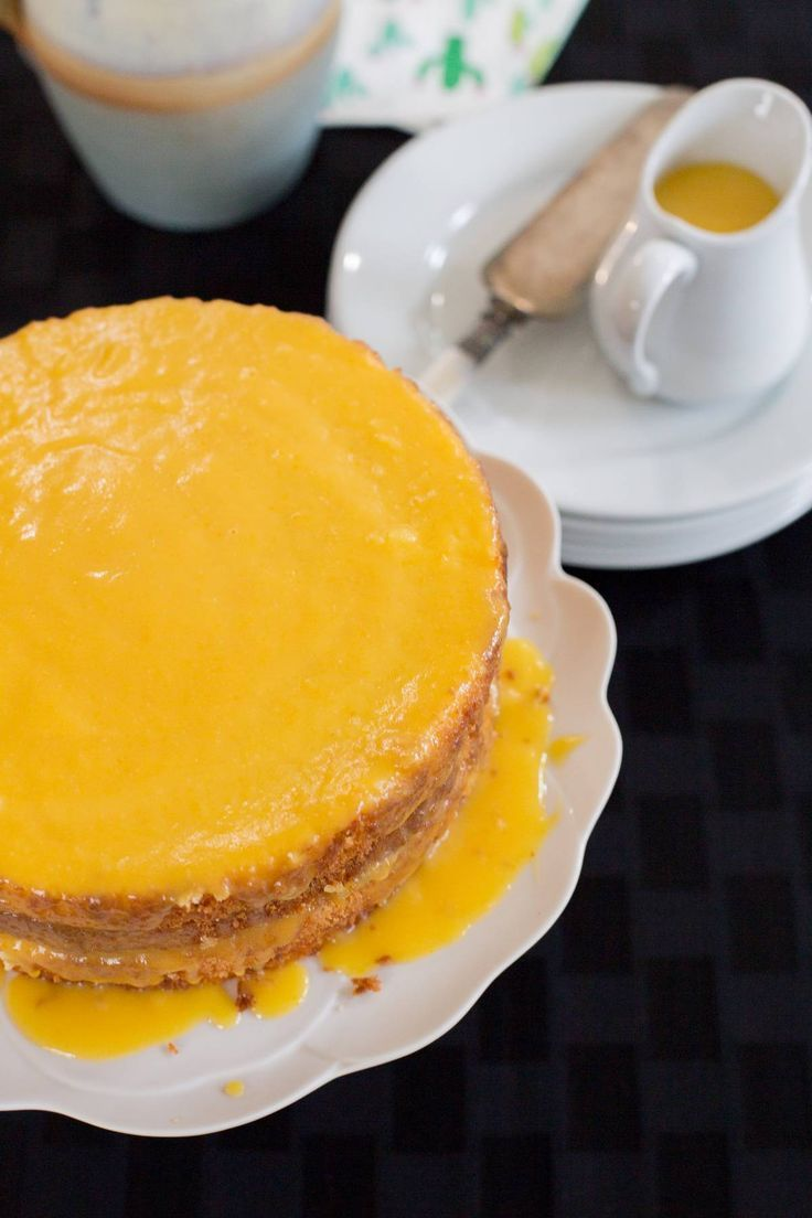Amazing recipe for the most elegant and moist Orange Layer Cake.