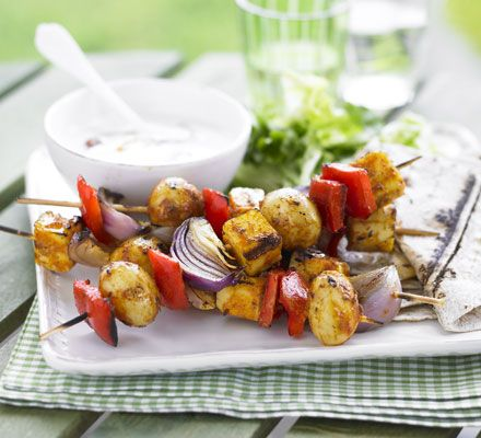 Veggies needn't feel left out at barbecues with these Indian-spiced kebabs