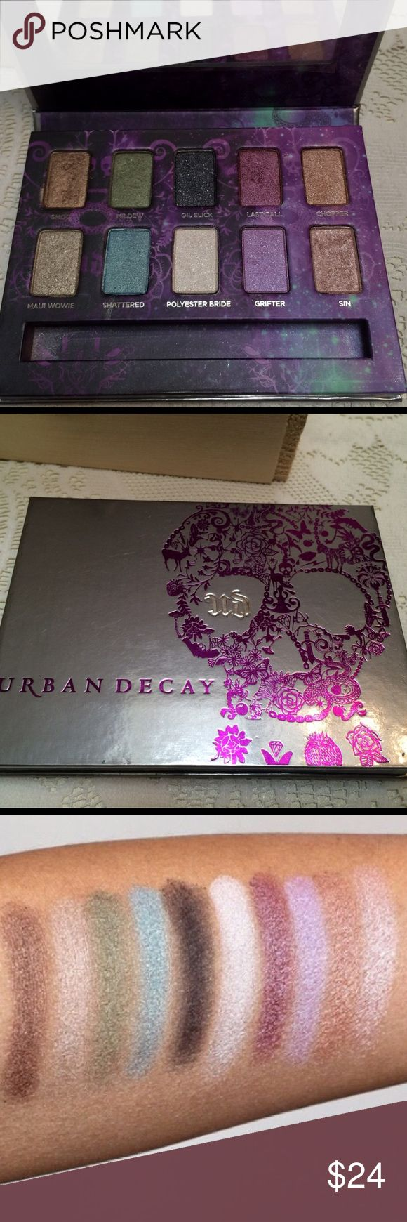 Urban Decay Ammo Palatte💀 This was used lightly for a week.  It's 10 of Urban Decays best selling shades!!  The colors are beautiful and highly pigmented.  It's a new formula so they're more vivid, bolder, and velvety. This palette has been sold out in stores for awhile now. Urban Decay Makeup Eyeshadow