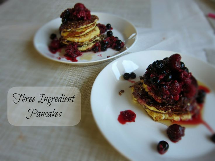 Three ingredient pancake recipe on my blog Finding Joy and Beauty! Click here: http://findingjoyandbeauty.blogspot.fi/2014/03/weekend-tip-3-ingredient-pancakes.html