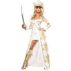 Wholesale Halloween Costumes - Women's Sexy Deluxe Pirate Queen Costume